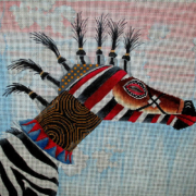 TC 9 Zebra Tribal Mask